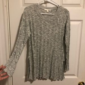 🌟SALE!🌟 Say What gray long sleeve rubbed sweater